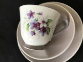 WINDSOR china retro tea trio